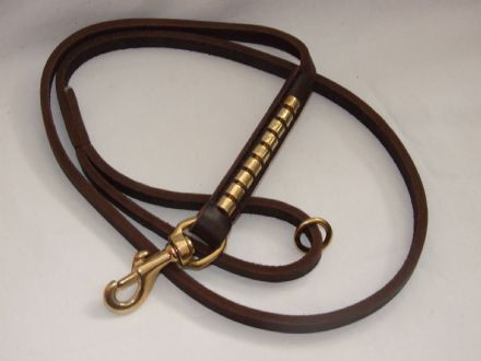 Hand-Made Leather Clincher Dog Lead